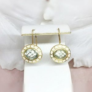 Amethyst Vermeil 14K Gold Over Silver Earring